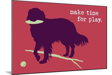 Time For Play - Red Version-Dog is Good-Mounted Art Print