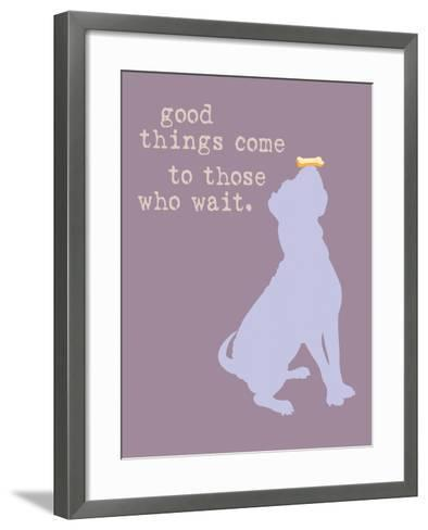 Good Things Come - Purple Version-Dog is Good-Framed Art Print