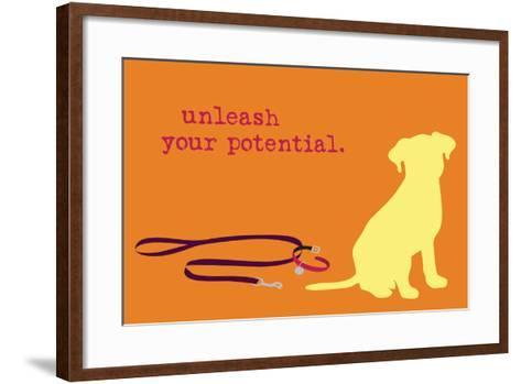 Unleash - Orange Version-Dog is Good-Framed Art Print