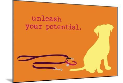 Unleash - Orange Version-Dog is Good-Mounted Art Print