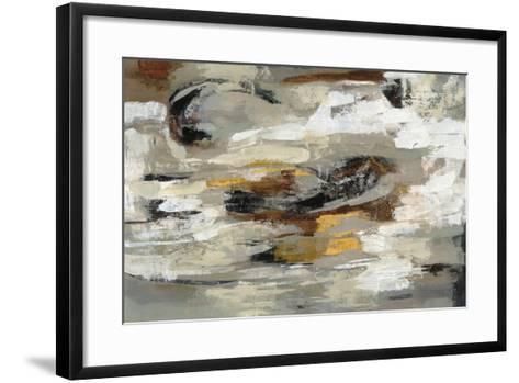 Neutral Abstract Gray-Silvia Vassileva-Framed Art Print
