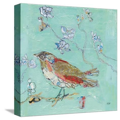 Aqua Bird-Kellie Day-Stretched Canvas Print
