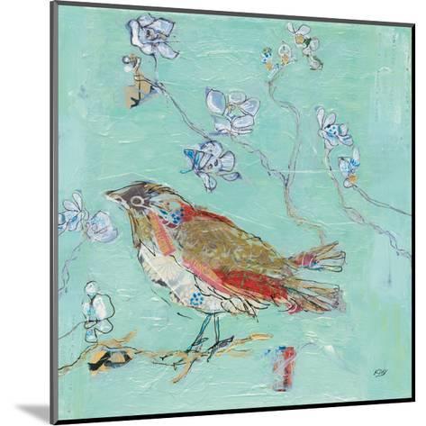 Aqua Bird-Kellie Day-Mounted Art Print
