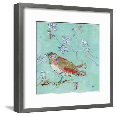 Aqua Bird-Kellie Day-Framed Art Print