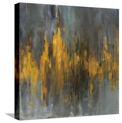 Black and Gold Abstract-Danhui Nai-Stretched Canvas Print