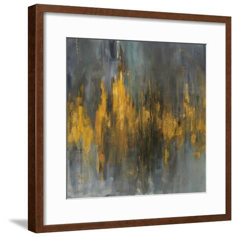 Black and Gold Abstract-Danhui Nai-Framed Art Print