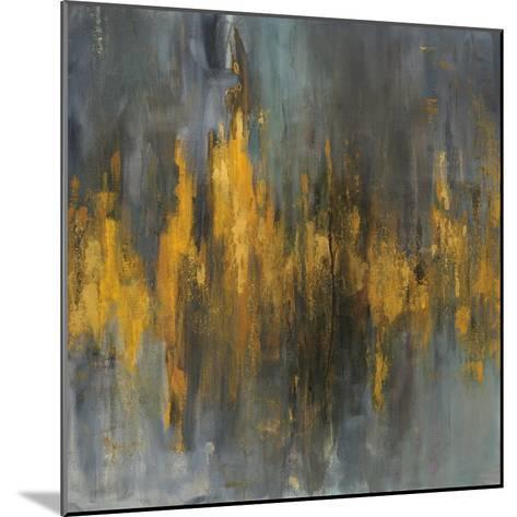 Black and Gold Abstract-Danhui Nai-Mounted Art Print