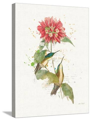 Colorful Hummingbirds I-Katie Pertiet-Stretched Canvas Print