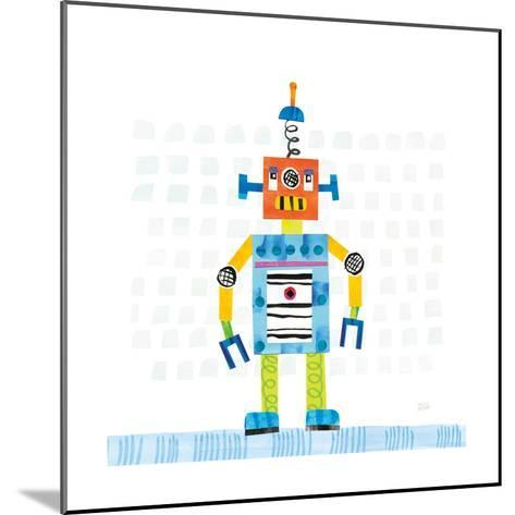 Robot Party II on Squares-Melissa Averinos-Mounted Art Print