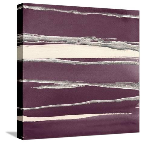 Silver Rose II Purple-Chris Paschke-Stretched Canvas Print
