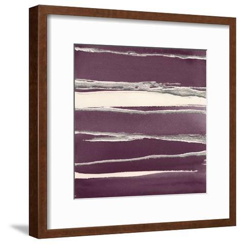 Silver Rose II Purple-Chris Paschke-Framed Art Print