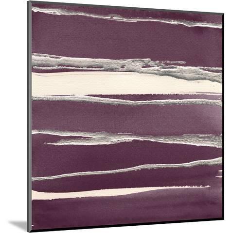 Silver Rose II Purple-Chris Paschke-Mounted Art Print