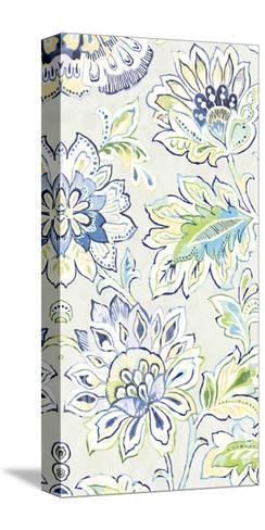 Ceylon Gardens VIII Indigo-Wild Apple Portfolio-Stretched Canvas Print