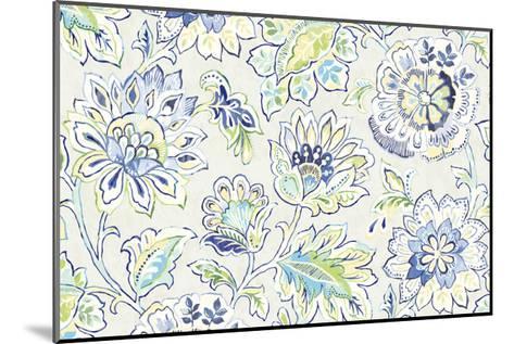 Ceylon Gardens II Indigo-Wild Apple Portfolio-Mounted Art Print