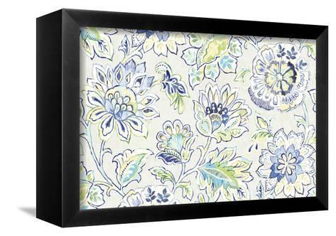 Ceylon Gardens II Indigo-Wild Apple Portfolio-Framed Canvas Print