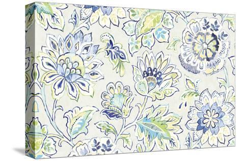 Ceylon Gardens II Indigo-Wild Apple Portfolio-Stretched Canvas Print