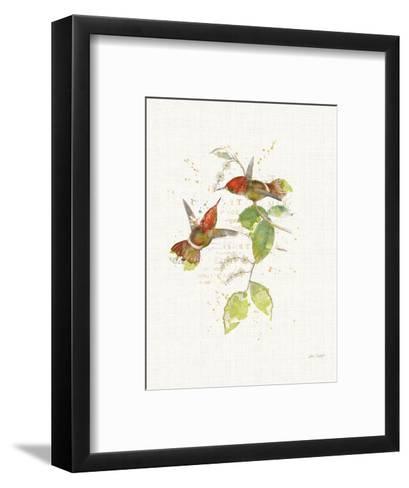 Colorful Hummingbirds II-Katie Pertiet-Framed Art Print