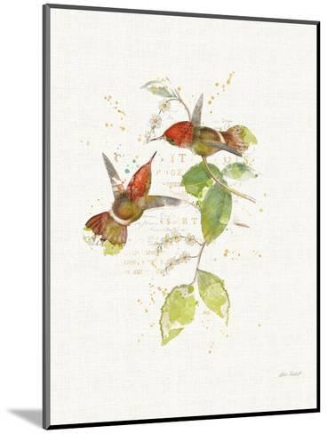 Colorful Hummingbirds II-Katie Pertiet-Mounted Art Print