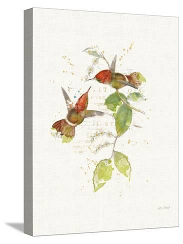 Colorful Hummingbirds II-Katie Pertiet-Stretched Canvas Print