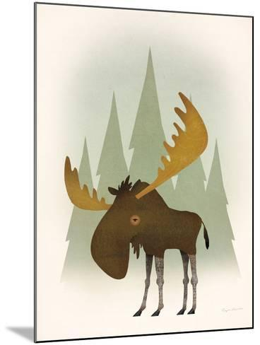 Forest Moose-Ryan Fowler-Mounted Art Print