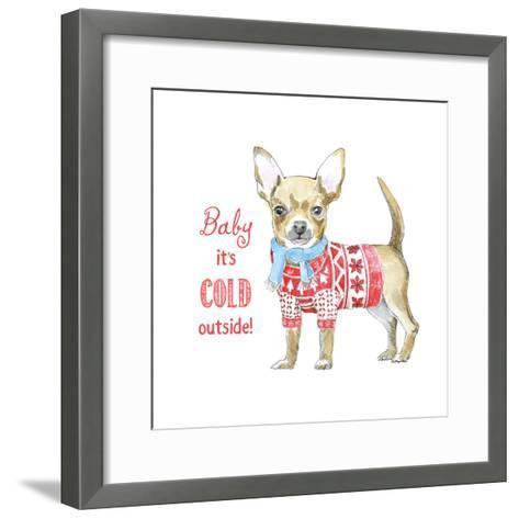Glamour Pups Christmas I-Beth Grove-Framed Art Print