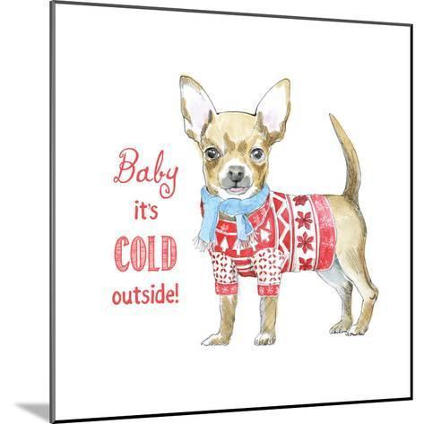 Glamour Pups Christmas I-Beth Grove-Mounted Art Print