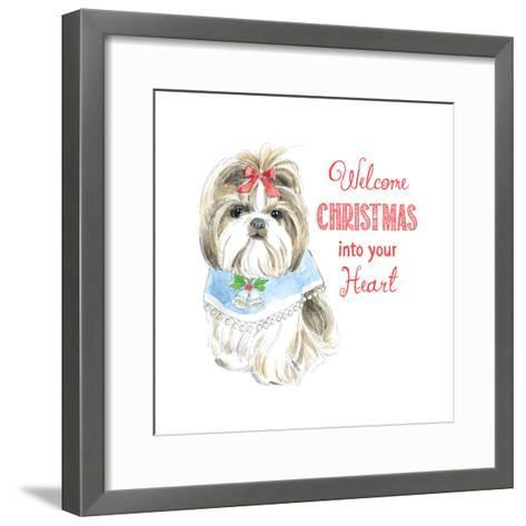 Glamour Pups Christmas II-Beth Grove-Framed Art Print