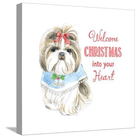 Glamour Pups Christmas II-Beth Grove-Stretched Canvas Print