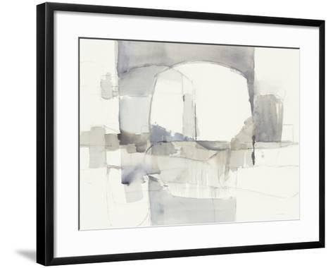 Improvisation I Gray Crop-Mike Schick-Framed Art Print