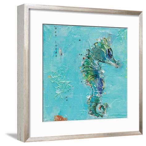 Little Seahorse Blue-Kellie Day-Framed Art Print