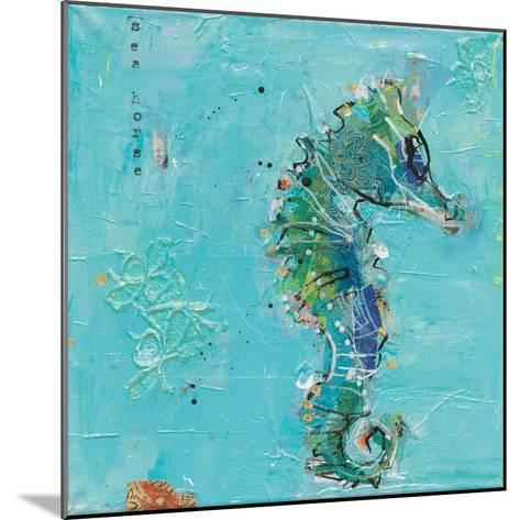 Little Seahorse Blue-Kellie Day-Mounted Art Print