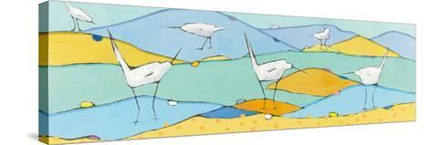 Marsh Egrets I-Phyllis Adams-Stretched Canvas Print