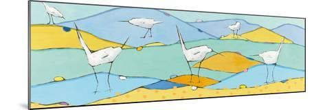 Marsh Egrets I-Phyllis Adams-Mounted Art Print