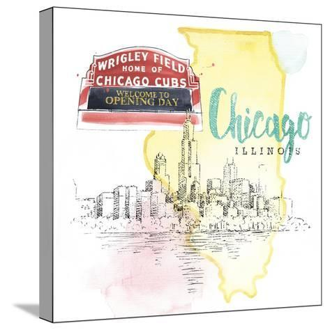 US Cities II-Beth Grove-Stretched Canvas Print