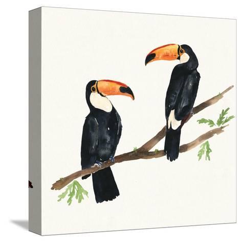Tropical Fun Bird I-Harriet Sussman-Stretched Canvas Print