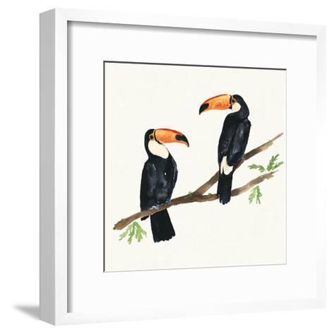 Tropical Fun Bird I-Harriet Sussman-Framed Art Print