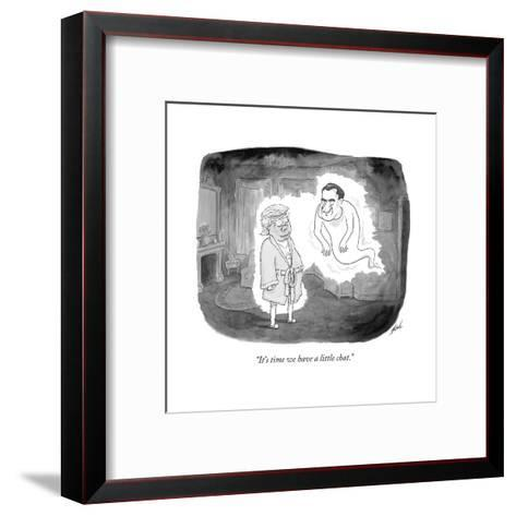 """""""It's time we have a little chat."""" - Cartoon-Tom Toro-Framed Art Print"""