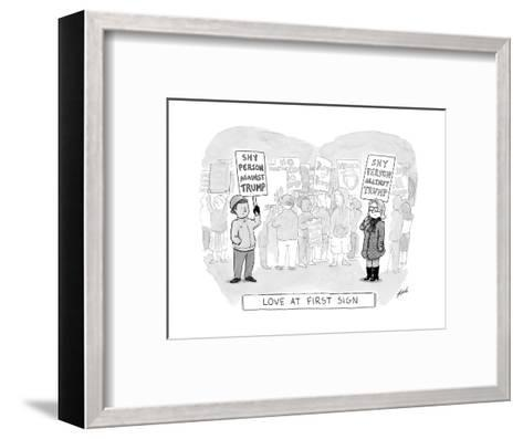 Love at First Sign - Cartoon-Tom Toro-Framed Art Print