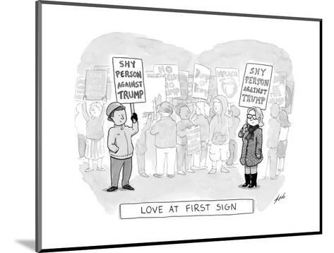 Love at First Sign - Cartoon-Tom Toro-Mounted Premium Giclee Print