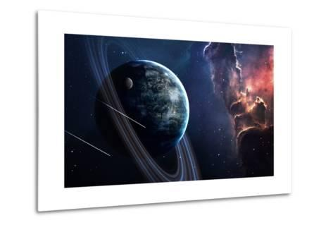 Universe Scene with Planets, Stars and Galaxies in Outer Space Showing the Beauty of Space Explorat-Forplayday-Metal Print