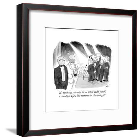 """""""It's touching, actually, to see white dudes fumble around for a few last ?"""" - Cartoon-Tom Toro-Framed Art Print"""