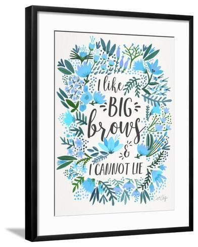 Blue Big Brows-Cat Coquillette-Framed Art Print