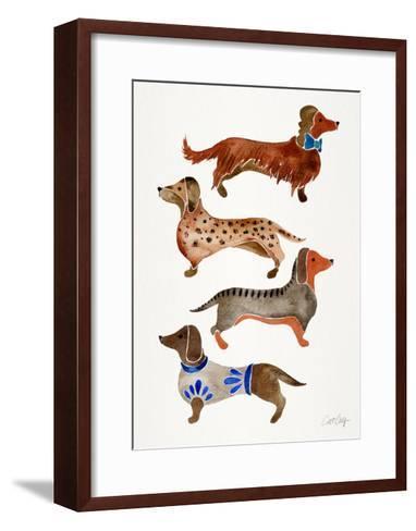 Dachshunds-Cat Coquillette-Framed Art Print