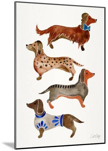 Dachshunds-Cat Coquillette-Mounted Giclee Print