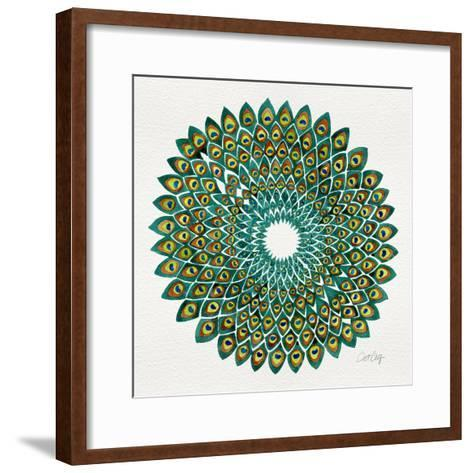 Original Peacock-Cat Coquillette-Framed Art Print