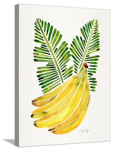 Green Bananas-Cat Coquillette-Stretched Canvas Print