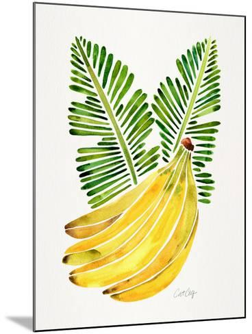 Green Bananas-Cat Coquillette-Mounted Giclee Print