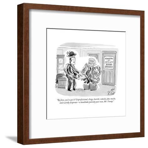 """By Jove, you've got it! Unprofessional, clingy, boorish, volatile, fake-m? - Cartoon-Tom Toro-Framed Art Print"