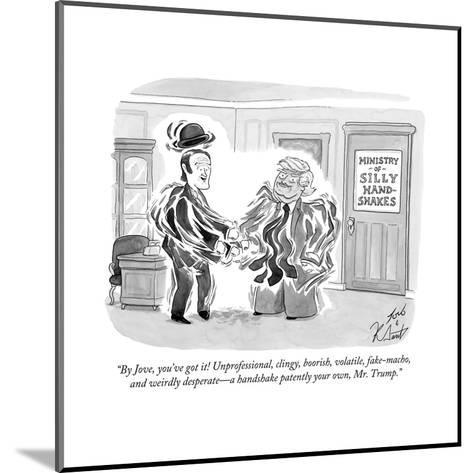 """By Jove, you've got it! Unprofessional, clingy, boorish, volatile, fake-m? - Cartoon-Tom Toro-Mounted Premium Giclee Print"