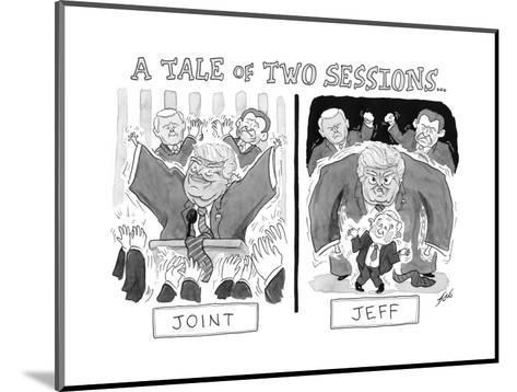 A Tale of Two Sessions... - Cartoon-Tom Toro-Mounted Premium Giclee Print
